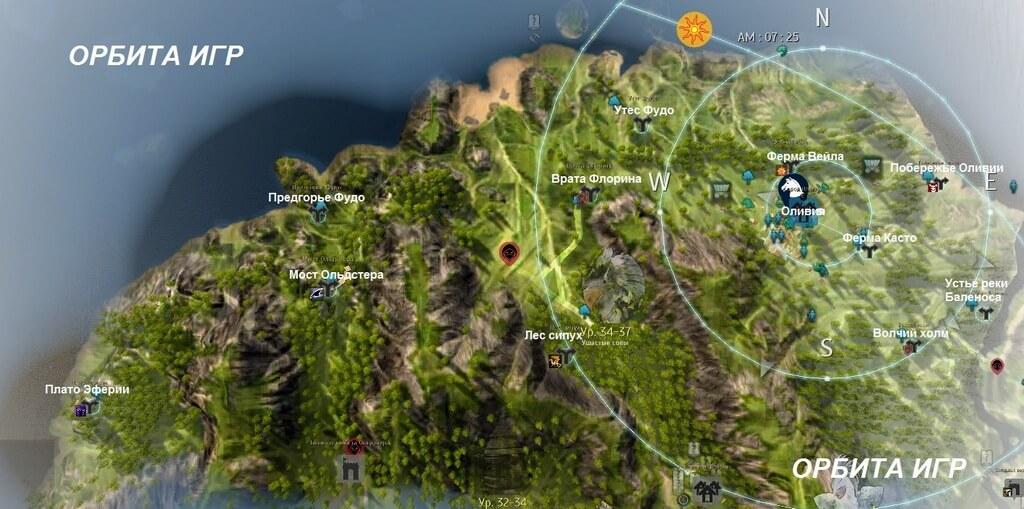 Запад Баленоса карта