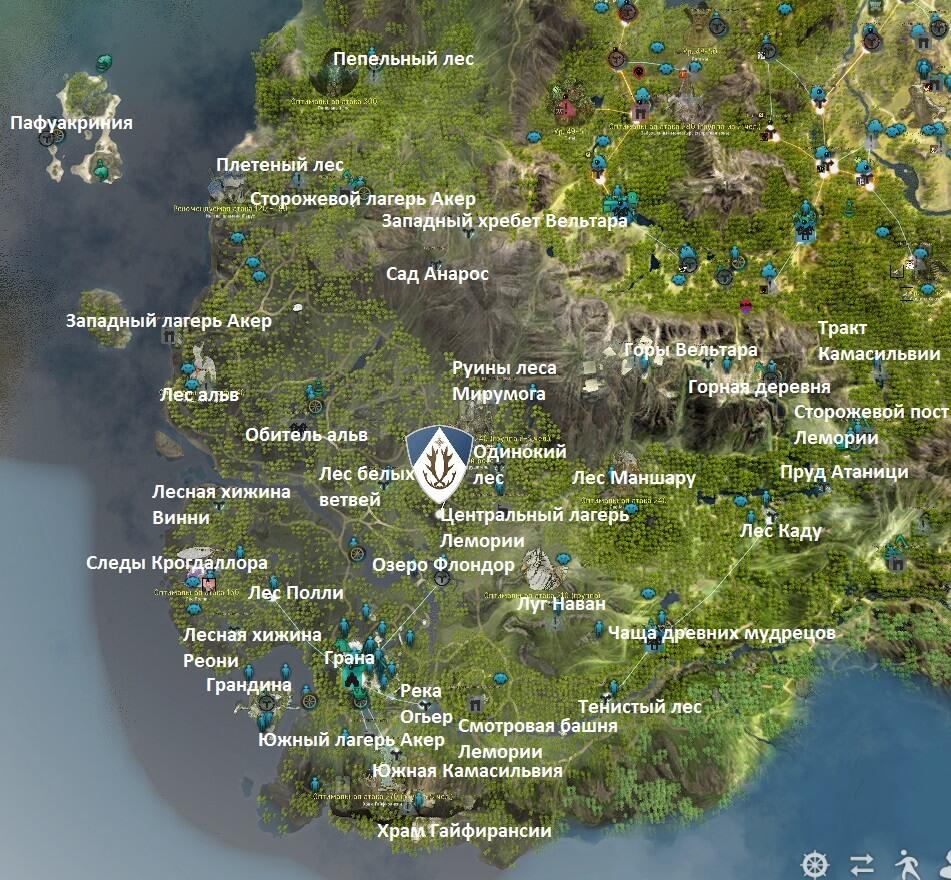 Карта Камасильвии