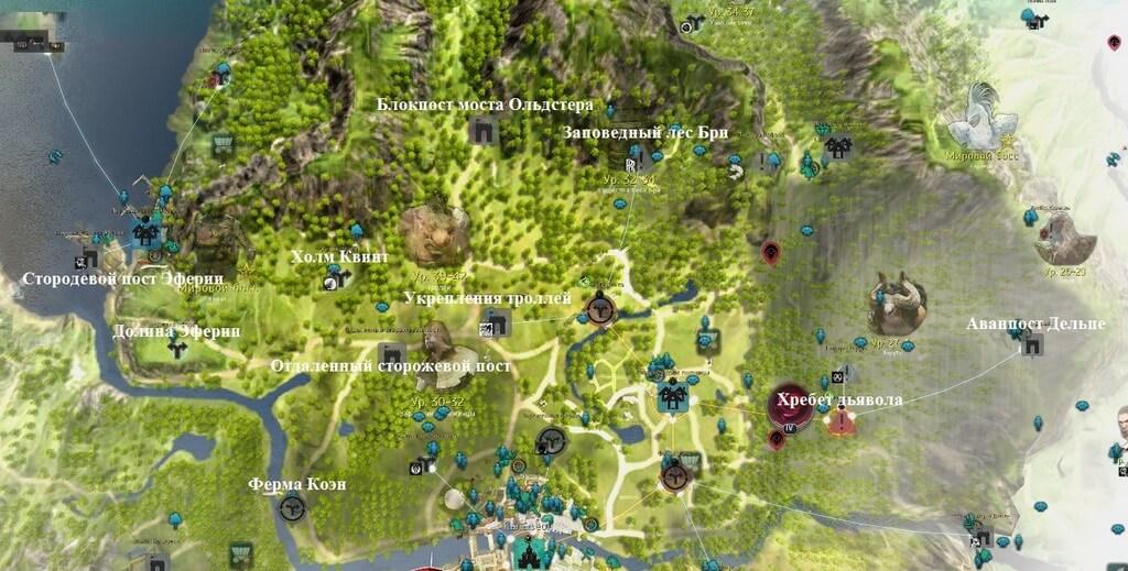 Карта Север Кальфеона