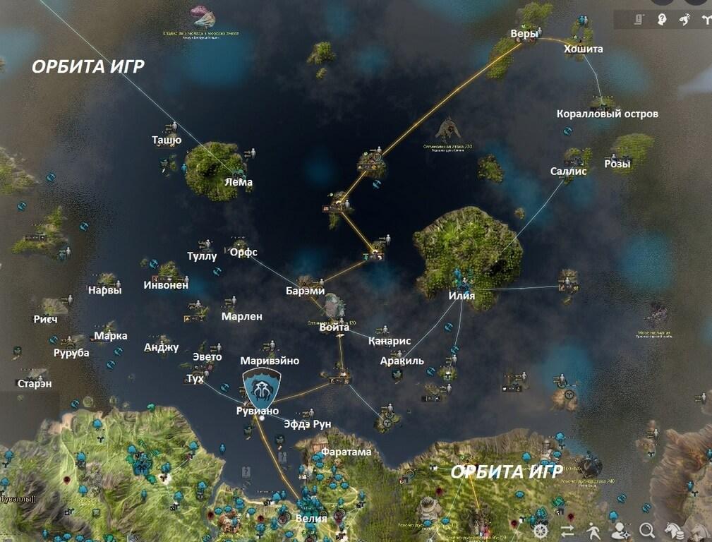 Океан Баленоса Карта