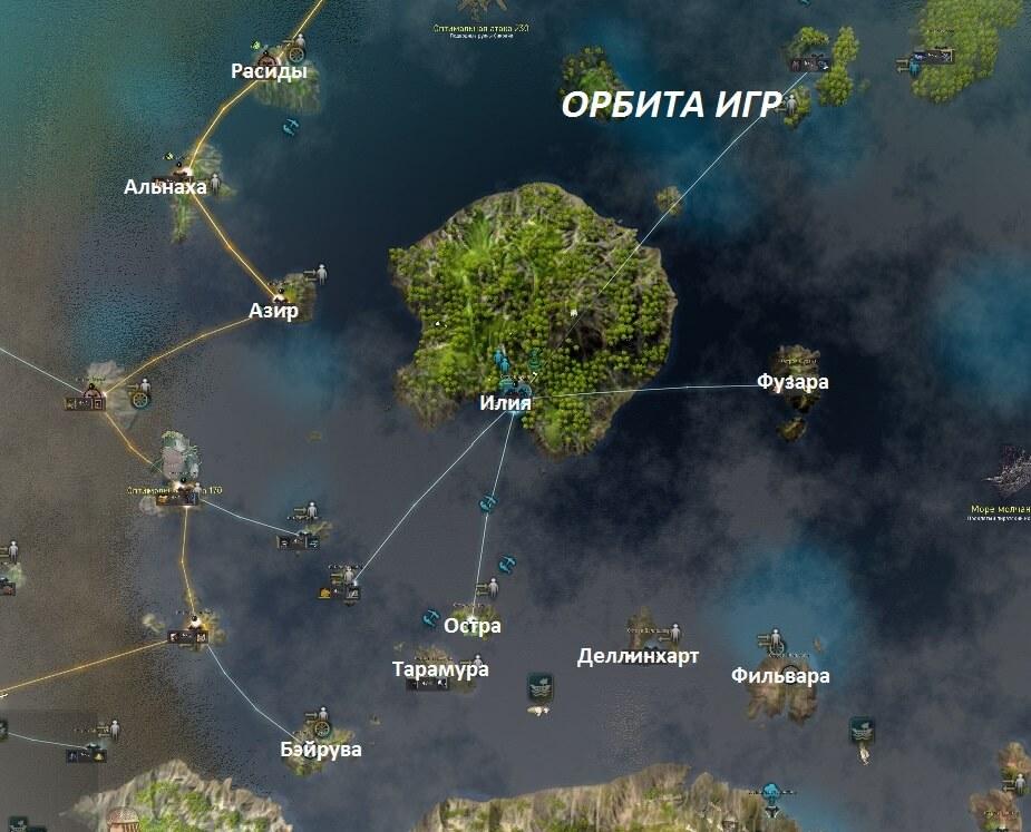 Океан Медии карта