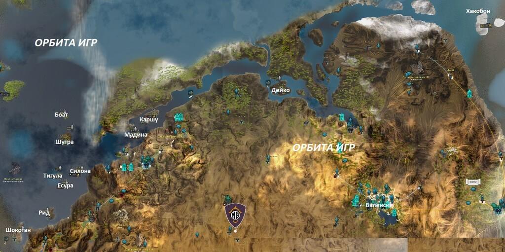 Океан Валенсии карта