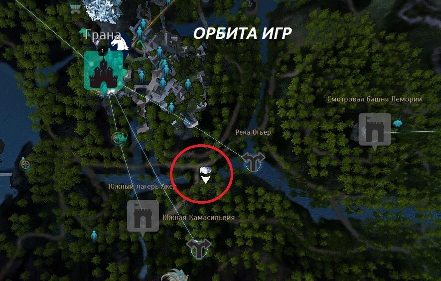 Слоновий камень Граны карта