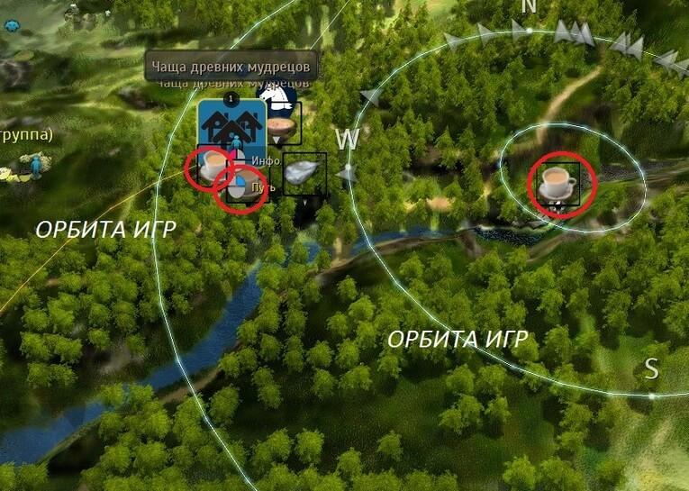 Энергия одного бокала - карта
