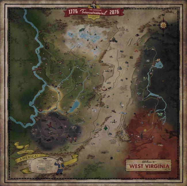 Fallout 76 карта