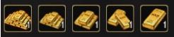 Коллекция золотых слитков