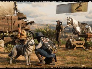 Red Dead Redemption 2 ковбои и собака