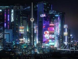 Cyberpunk 2077 ночной город