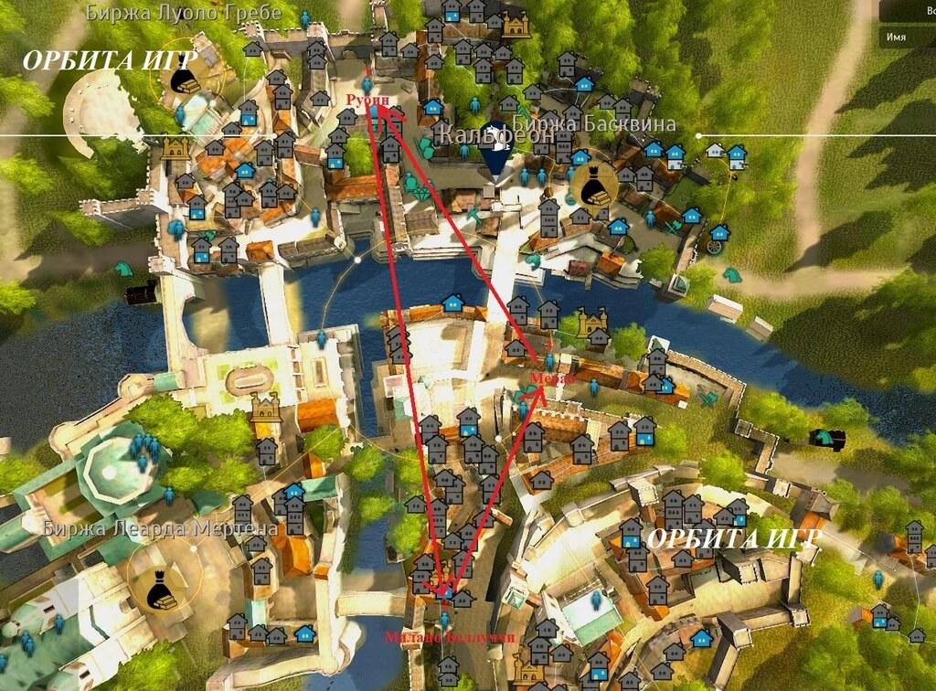 Rubin4 карта НПС