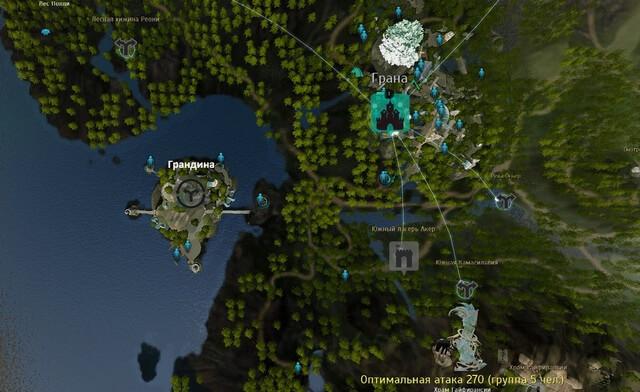 Карта Грандины