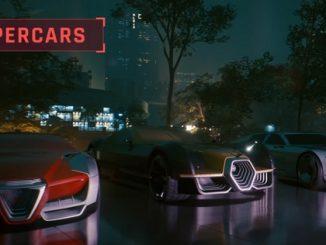 Cyberpunk 2077 hypercars