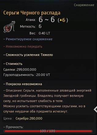 Серьги Черного распада =